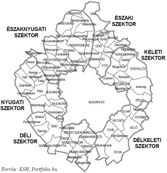 budapest agglomeráció térkép Vége az agglomeráció burjánzásának? Megnehezítették a zöldmezős  budapest agglomeráció térkép