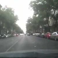 Klasszikus 'nagyautós' parkolás