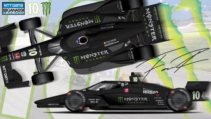 Gatewayen újra Monster-ruhában tündököl Felix Rosenqvist autója
