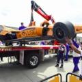 Hatalmas balesetet szenvedett Fernando Alonso Indianapolisban