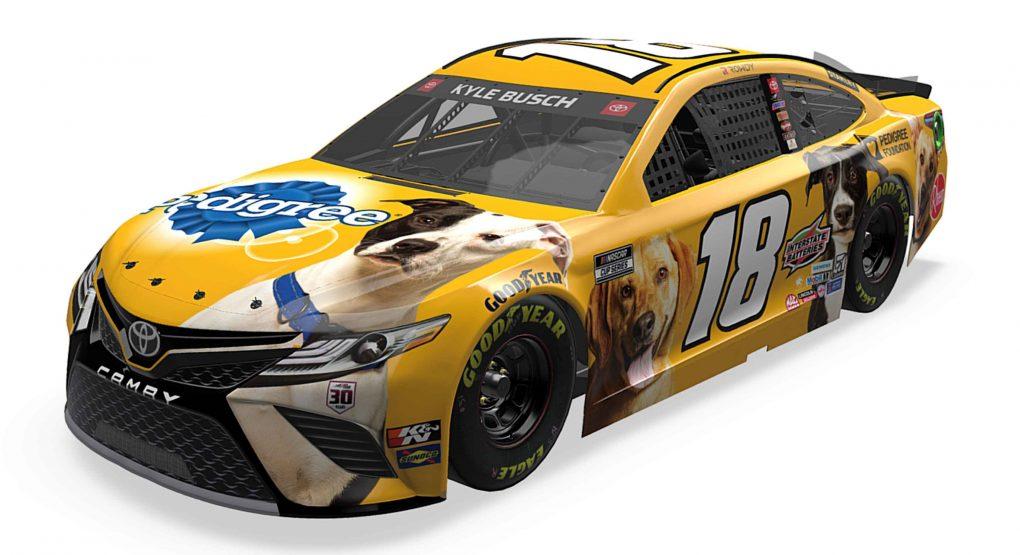 """NASCAR: Ismét az """"elátkozott"""" dizájnnal versenyez Kyle Busch"""