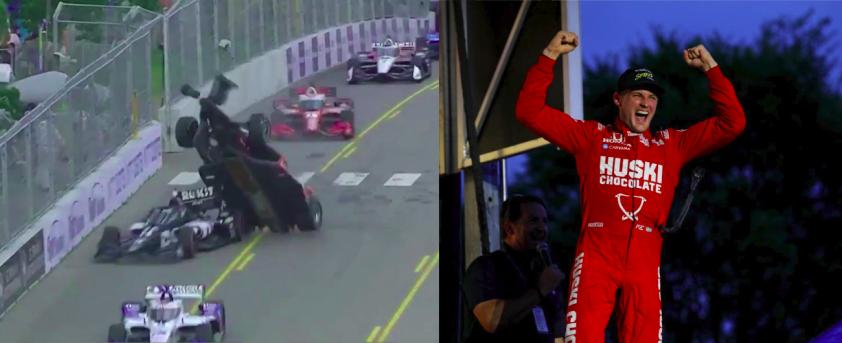 Őrület a köbön: Az IndyCar kimaxolta a flúgos futam fogalmát Nashville-ben