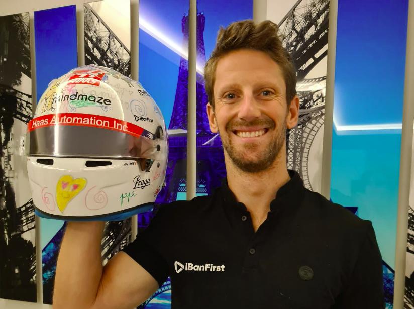 Grosjean a gyermekei által tervezett sisakot fogja viselni első IndyCar-tesztjén