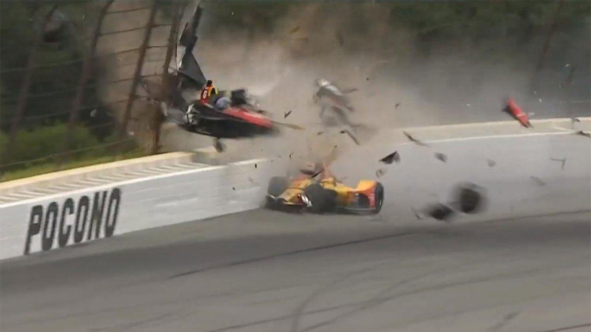 Alexander Rossi nyerte az IndyCar horrorbalesettel beárnyékolt, poconói futamát