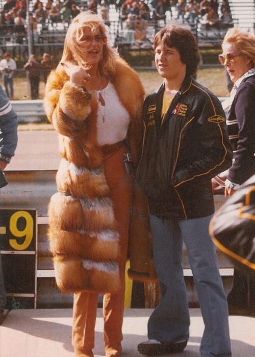 Linda és a képen körülbelül 15-16 éves Michael Andretti