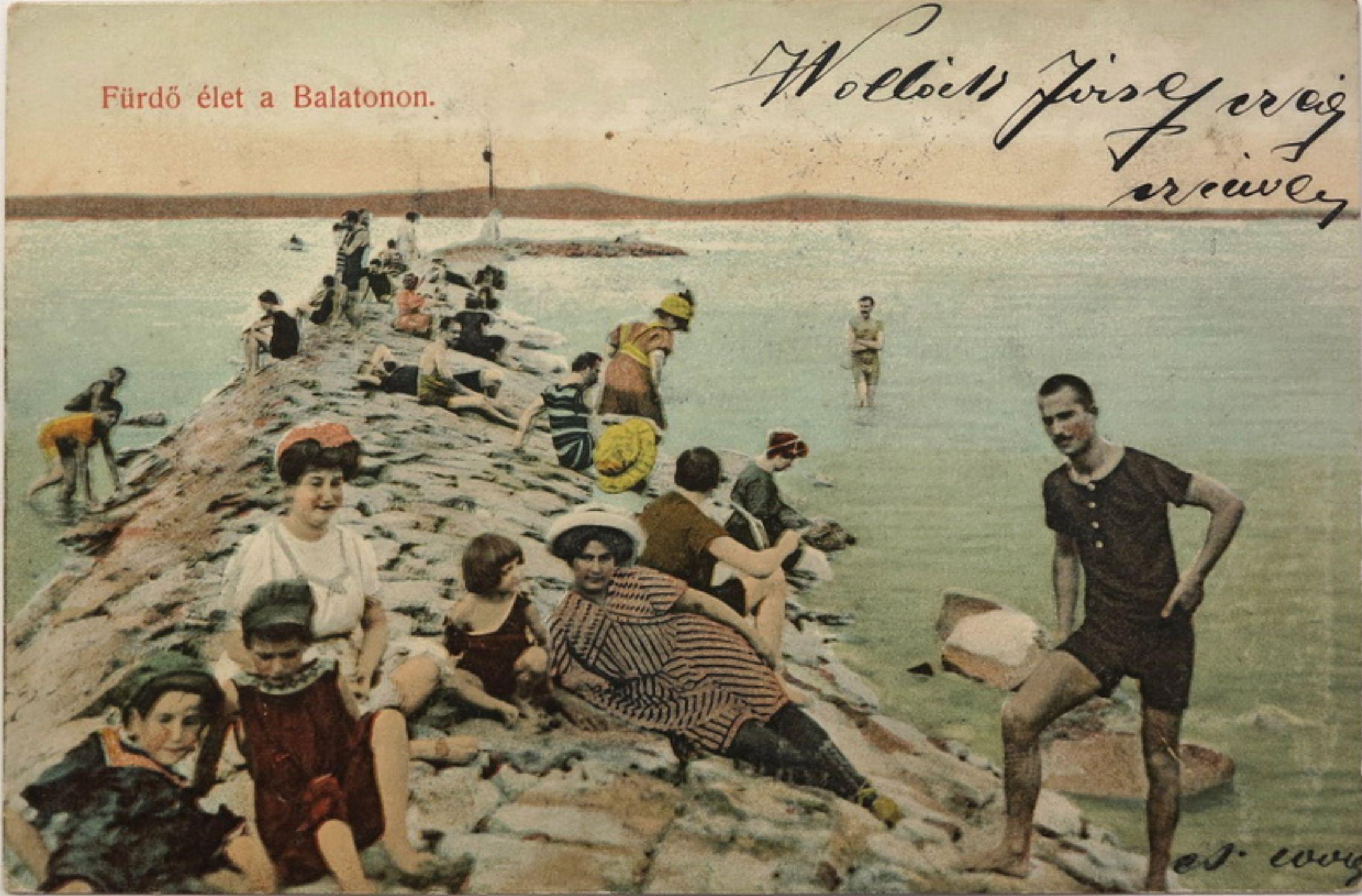 Balatoni nyaralás az 1900-as évek elején