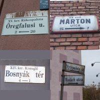 Kitekintő sorozat: külföldi és vidéki utcanévtáblák