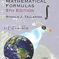 Pocket Book Of Integrals And Mathematical Formulas, 5th Edition (Advances In Applied Mathematics) Download