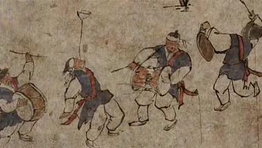 Namsadang - a koreai, csak férfiakból álló vándorló bohóccirkusz