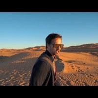 Sátrazás és naplemente a Szaharában