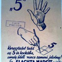 Választási plakátok 1947 - I. Keresztény Női Tábor