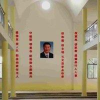 Kína: A katolikus templom keresztény szimbólumait lecserélték az elnök képére