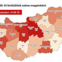 Koronavírus fertözöttek száma 2020. június 29-én