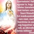 Hallottátok-e egyszer is, hogy valamely hiteles üzenetemben más imát kértem volna, mint a Szent Rózsafüzért?