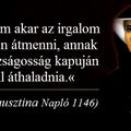 Aki nem akar az irgalom kapuján átmenni, annak az igazságosság kapuján kell áthaladnia