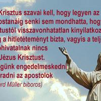Mindig Jézus Krisztus szavai kell, hogy legyen az alapja az Egyház tanításának.