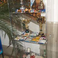 Kajak-kenu kiállítás az aulában