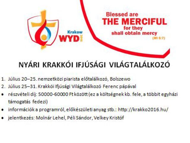 Krakkó - Ifjúsági világtalálkozó