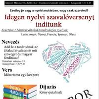 Idegen nyelvi szavalóverseny