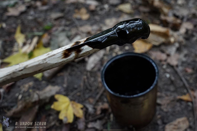 Nyírfa kátrány készítés
