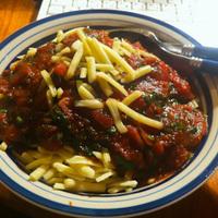 Vörösboros paradicsomos spagetti