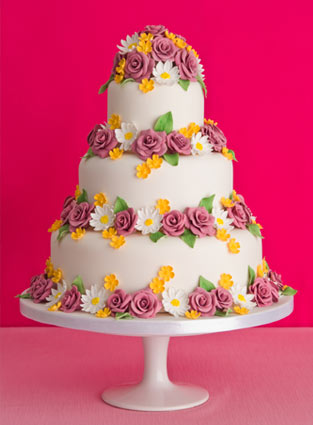 purple-rose-and-buttercups-wedding-cake.jpg