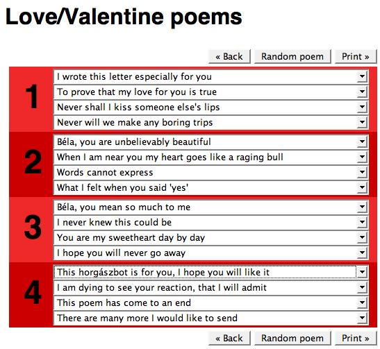 valentin napi szerelmes versek idézetek Szerelmes vers random generátor   Valentin napi versek   Valentin