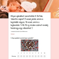 Valentin-napi kérdőív férfiaknak