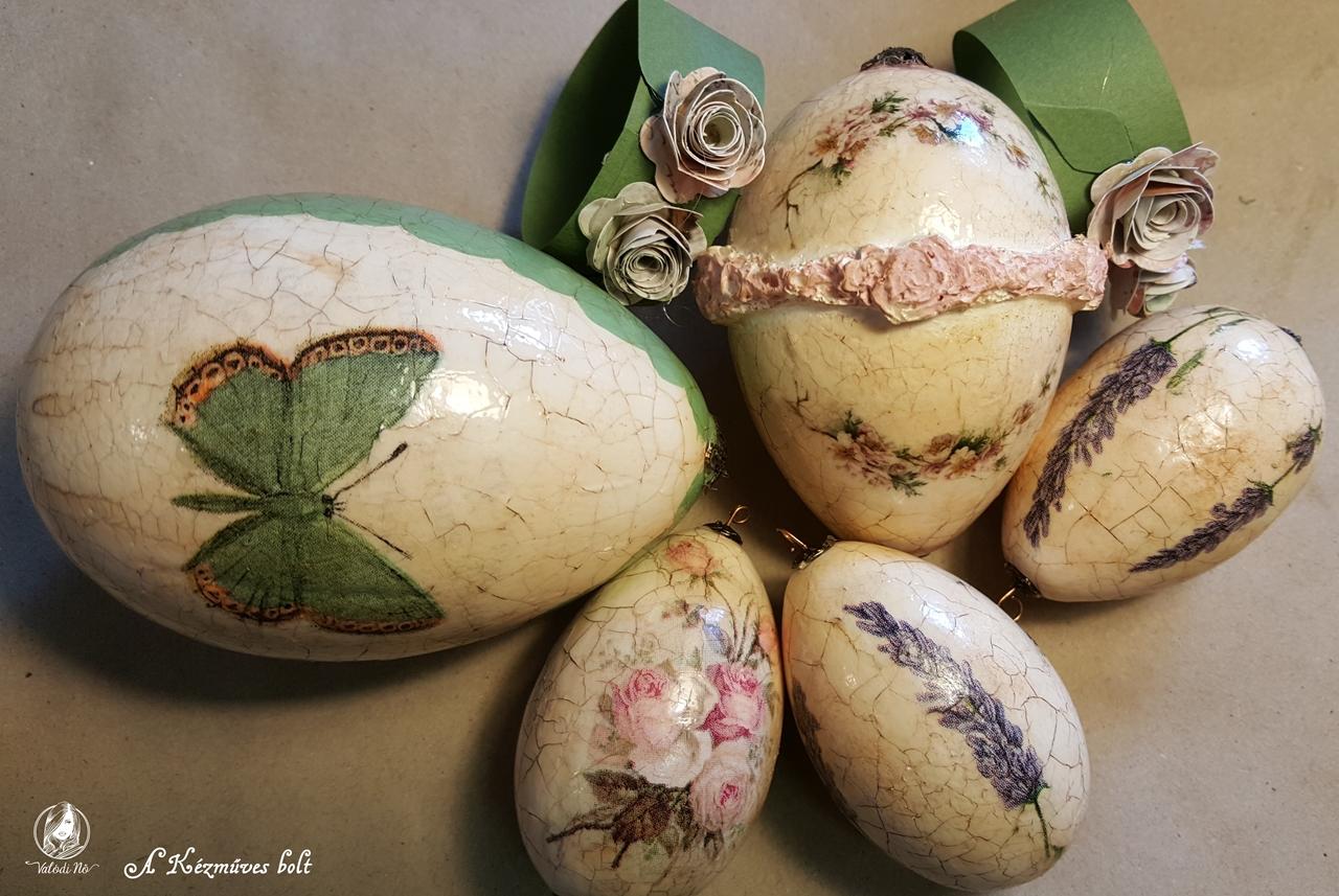 Csodálatos vintage, repesztett tojások húsvétra