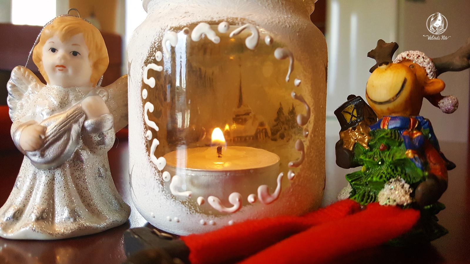 Karácsonyi mécsestartó - gyermeked is elkészítheti