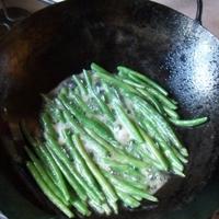 Szárazra sütött zöldbab