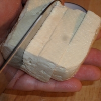 Tofu egyszerű szójamártásban
