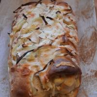 Sajtos hagymás kenyér
