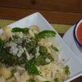 Napi menü — gazpacho, pestós tészta, saláta