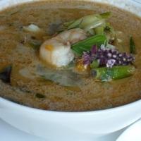 Kókuszos sütőtök leves garnélarákkal
