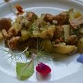 Újkrumpli erdei gombával
