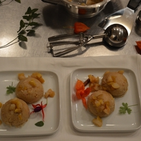 Halava - Búzadara desszert karamellizált körtével