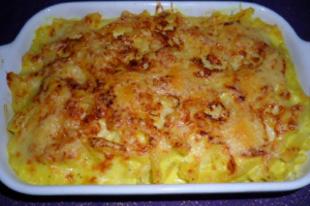 Makaróni csőben sütve (Macaroni au gratin)