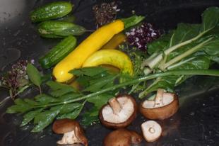 Kerti leves shiitake gombával