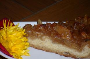 Túrós almás torta