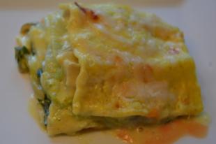 Kecskesajtos lasagne