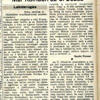 Időkapszula extra– Klubcsapataink 1983/84-s nemzetközi kupaszereplése 2. forduló,  2. kör