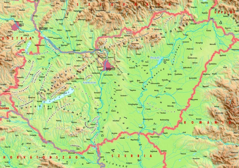 magyarország hegyei térkép Kis magyar futballtérkép 2016/17   Válogatott okosságok magyarország hegyei térkép