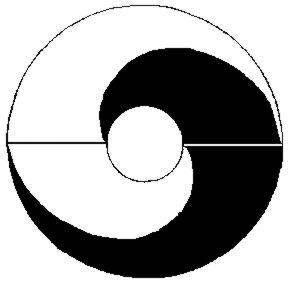 A Ming-kori Lai Zhide által használt Taiji ábra (90 fokkal balra elforgatva)