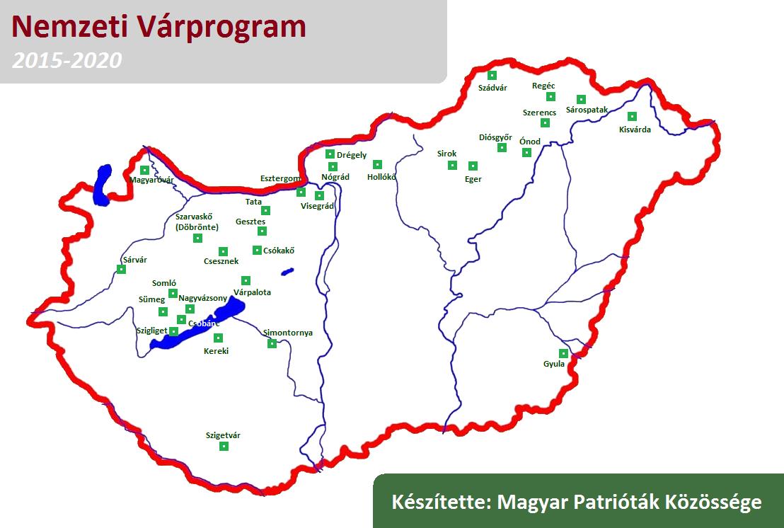 magyarország térkép sümeg Térképen a Nemzeti Várprogram   Várhegy Blog magyarország térkép sümeg