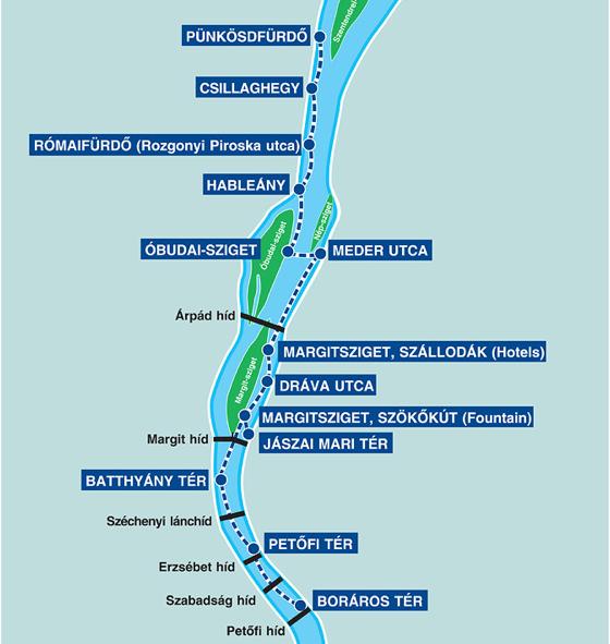 bkk hajó térkép Meghódítja a Dunát a BKV   Egy nap a városban