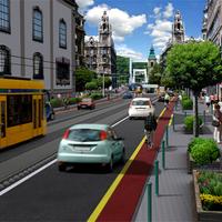 Budapest 2020: Sétálóutcák a belvárosban, terjeszkedő villamosok mindenütt