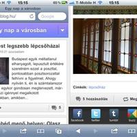 Az Egy nap a városban blog mobilon is