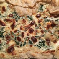 Ruccolás-gorgonzolás pite