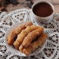 Sütőtökös churros rumos-sós csokival